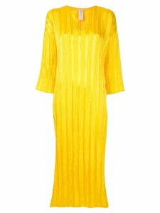Zero + Maria Cornejo satin beach dress - Yellow