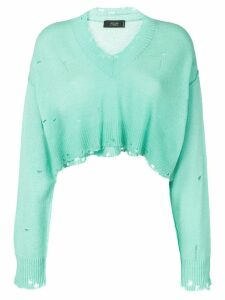 Maison Flaneur cashmere cropped sweater - Green