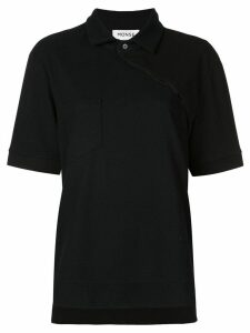 Monse asymmetric buttoned polo shirt - Black
