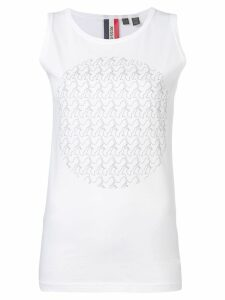 Rossignol logo moon tank top - White