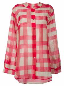 Sara Lanzi Vichy blouse - Red