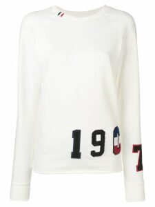 Rossignol flocked sweatshirt - White