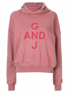 Goen.J logo hoodie - Pink