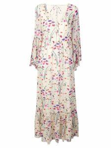 Borgo De Nor Florencia long dress - NEUTRALS