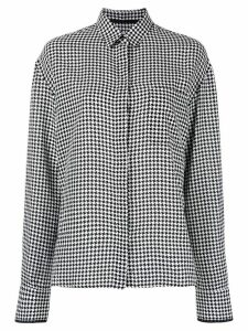 Haider Ackermann houndstooth shirt - White
