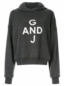 Goen.J print hooded sweatshirt - Grey