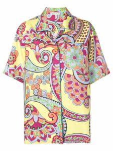 Etro floral paisley print shirt - Yellow