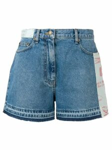 McQ Alexander McQueen patch detail jean shorts - Blue