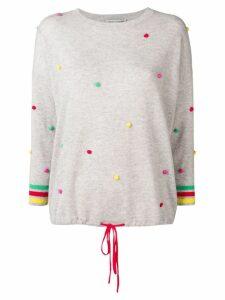 Autumn Cashmere pompom cashmere jumper - Grey