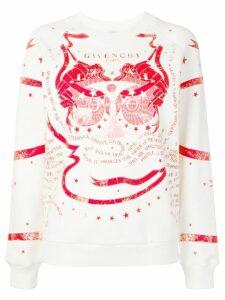 Givenchy contrast print sweatshirt - Neutrals