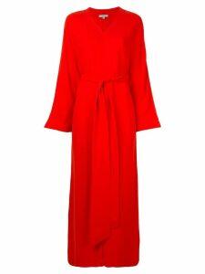 Layeur wrap-around long dress - Red