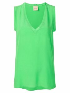 Nude v-neck top - Green