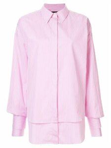 Rokh pinstriped shirt - PINK