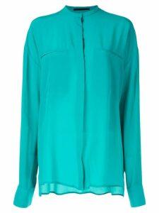 Haider Ackermann Sophora turquoise blouse - Green