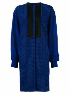Haider Ackermann blue checked shirt