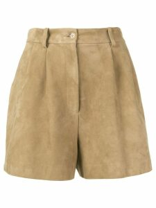 Nili Lotan high-waisted shorts - Neutrals