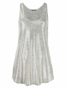 Balmain metallic sheen tank top - GOLD