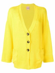 Nude oversized cardigan - Yellow