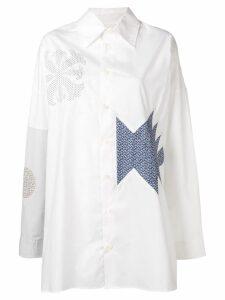 AMBUSH patchwork shirt - White