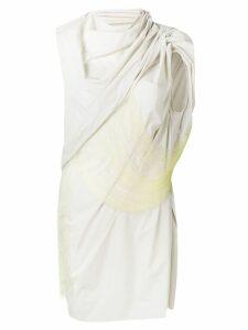 Rick Owens sleeveless fringe overlay top - Grey