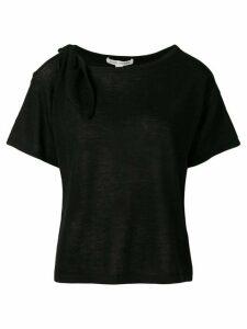 Autumn Cashmere cut-out cashmere T-shirt - Black