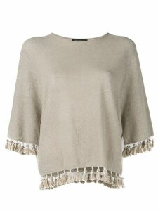 Antonelli tassel detail jumper - Brown
