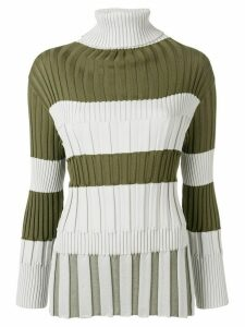 Pleats Please Issey Miyake ribbed jumper - Green