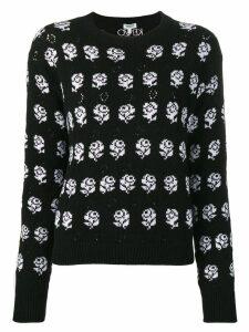 Kenzo rose pattern jumper - Black