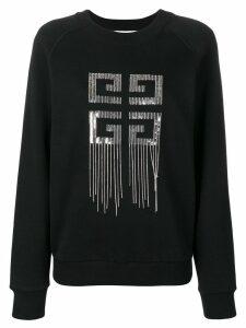 Givenchy logo embellished sweater - Black