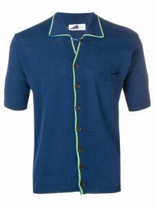 Anglozine Marcello short-sleeve cardigan - Blue