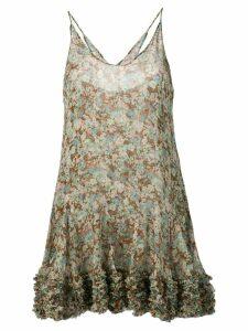 Stella McCartney meadow floral silk dress - Green
