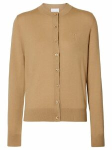 Burberry monogram motif cardigan - Neutrals