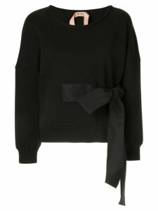 Nº21 waist-tied sweater - Black