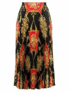 Gucci pleated silk midi skirt - Black