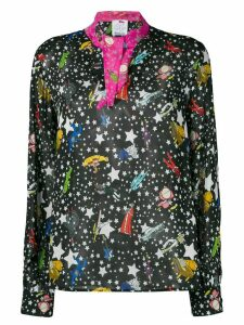 Ultràchic star print blouse - Black