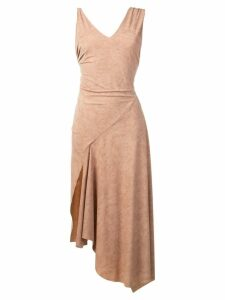 Faith Connexion asymmetric fitted dress - Neutrals