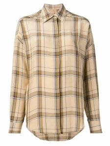Alberto Biani classic plaid shirt - NEUTRALS
