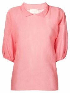 Chiara Bertani short sleeved knitted top - PINK