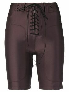Unravel Project lace-up cycling shorts - Brown