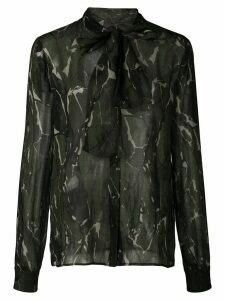 Saint Laurent camouflage print blouse - Green