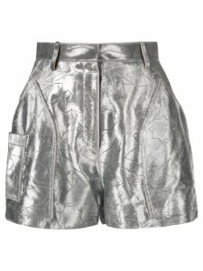 Roberto Cavalli star embroidered shorts - Silver