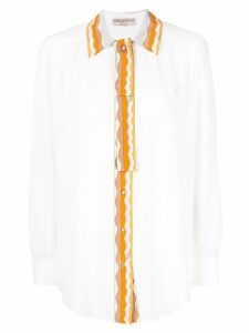 Emilio Pucci embellished trim shirt - White