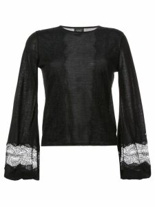 Giambattista Valli bell-sleeve sweater - Black