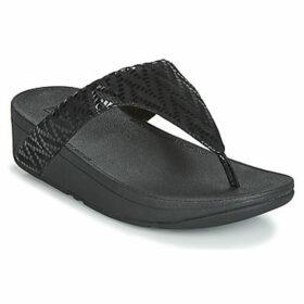 FitFlop  LOTTIE CHEVRON SUEDE  women's Flip flops / Sandals (Shoes) in Black