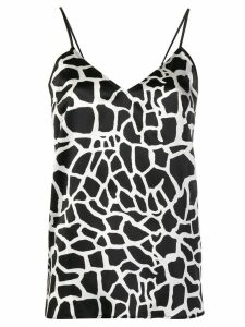 Federica Tosi abstract print cami top - Black