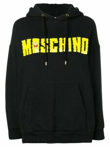 Moschino Pre-Owned 2000's logo drawstring hoodie - Black