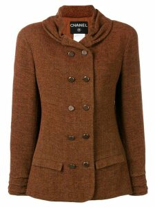 Chanel Pre-Owned 1998's gathered collar jacket - Brown