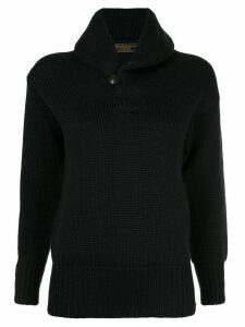 Fake Alpha Vintage shawl collar jumper - Black