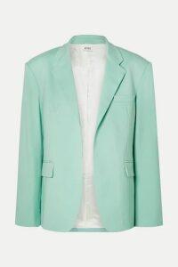 The Attico - Wool-blend Gabardine Blazer - Light green