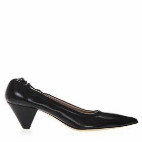 Aldo Castagna Pointed Toe Black Leather Pumps